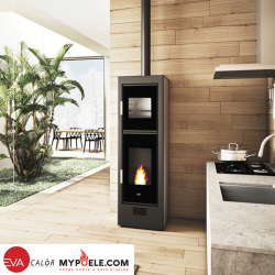 BISCOTTO 8,5 Kw - Four à granulés Canalisable EVA CALOR