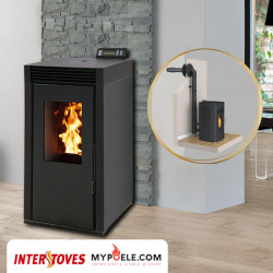 PACK poêle + Conduit ventouse - MARINA 8kw INTERSTOVES