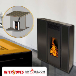 PACK poêle + Conduit ventouse - TESSA CONCENTRIQUE INTERSTOVES