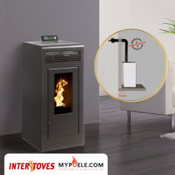 Kit poêle concentrique + Conduit Ventouse - MARINA Concentrique 13kw INTERSTOVES